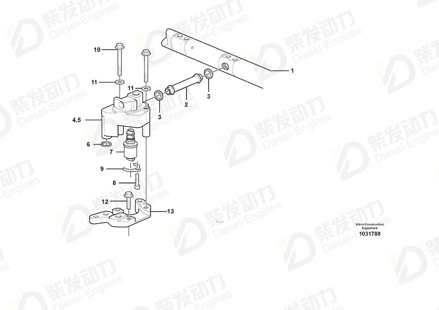 沃尔沃20892735Control valve, rocker arm shaft】价格,沃尔沃Control